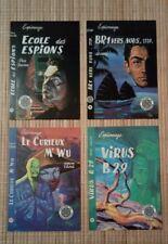 4 carte postale Aslan couvertures livres espionnage