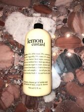 New PHILOSOPHY LEMON CUSTARD 3 in 1 SHAMPOO SHOWER GEL BUBBLE BATH 32OZ NO PUMP