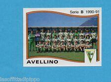 PANINI CALCIATORI 1990/91-Figurina n.359- SQUADRA - AVELLINO -Rec