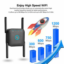 1200Mbps WiFi Range Extender Repeater Signal Booster Wireless Amplifier Router