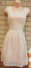 TOPSHOP LIGHT PINK SEQUIN BEADED SEQUINS BACKLESS SKATER PARTY XMAS DRESS 12 M