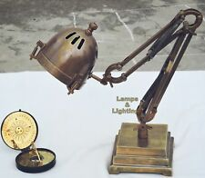 Vintage Sputnik Brass Task Steampunk Desk Lamp, Model Jaguar Office Industrial