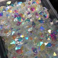 100Pc 14MM Sparkling AB Color Octagon Crystal Beads Chandelier Prisms Suncatcher