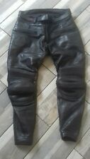 A.M. leathers black motorcycle biker leather  trousers waist 32