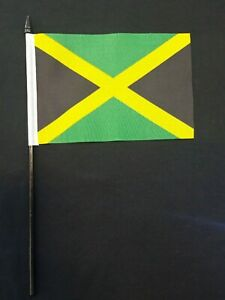 OFFICIAL LICENSED - JAMAICA FLAG ON A STICK
