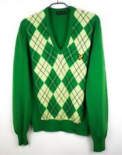Lyle & Scott Uomo Cardigan Vintage 100% Puro Nuovo Maglione di Lana TAGLIA L