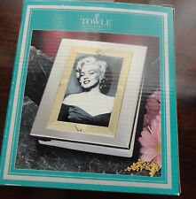 Silver / Brass Finish Frame Album by Towle Silversmith Holds 100 Photos of 4 x 6