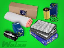 Filterset 4 partes de aceite de aire filtro de polen-BMW 5er e39-520d Diesel