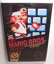 "Super Mario MAGNET 2"" x 3"" Refrigerator Locker Nintendo NES Vintage Game Box"