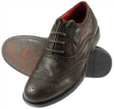 RedTape Leather Brown Lowick Brogue Rounded Casual Shoes