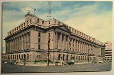 Louisville KY Post Office & Custom House Postcard ca 1950's Autos on Street