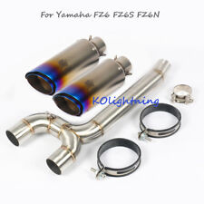 Slip Motorcycle Exhaust System Link Pipe Tip Tail Pipe For Yamaha FZ6 FZ6S FZ6N