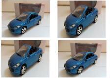 """Lot 4 Peugeot 307 CC Bleu 1/64 """"3 Inche"""" Diecast NOREV Produit NEUF !!"""