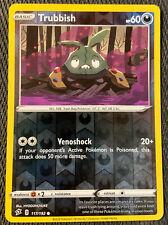 Trubbish 117/192 Rebel Clash Set REVERSE HOLO Pokemon Card NEAR MINT