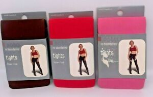 3 pr No Boundaries Low Rise Tights - Size S/M - Brown, Pink, Cherry Hipster