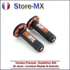 Paire de poignées Pro Taper Noir / Orange pour Moto-cross KTM 65 85 125 250cc