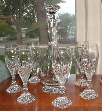 New ListingBaccarat Massena Cordial Decanter & 6 Liqueur / Cordial Glasses Mint Condition