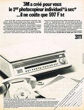 PUBLICITE ADVERTISING 035  1971  3M MINNESOTA  le photocopieur DRY-PHOTO COPIER