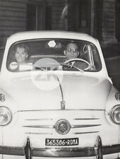 STAR & CAR SOPHIA LOREN Voiture FIAT 600 Paparazzi ROME Photo 1950s #39