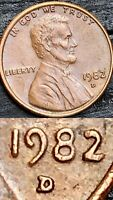 AMAZING 1982 D Doubled Die Lincoln Memorial Cent- DDO/DDR!