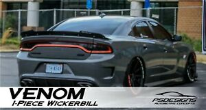 1 PC 2015+ Dodge Charger Wicker Bill Spoiler VENOM SERIES by PSDesigns SRT Style