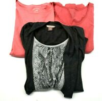 Lot of 3 White Stag Women S 4-6 Spring Summer Casual T-Shirts Tees Tops Blouses