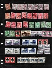 SOUTH AFRICA: NICE 'VINTAGE' STAMP COLLECTION DISPLAYED ON 3 SHEETS. SEE SCANS