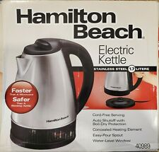 Used - Hamilton Beach Stainless Electric Water Heater Model 40989