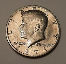 1971 US Kennedy D Half Dollar in Almost Uncirculated UNC Condition