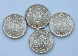 ANGOLA  Portuguese Colony  20 escudos  silver 1955 UNC