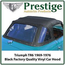 Triumph TR6 Car Hood Hoods Top Tops Roof Black Vinyl 1969-1976