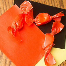 """Wax Candy Wrappers -for caramels & taffy -  Orange 4""""x5"""", 100 sheets"""