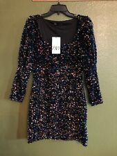 100% Authentic ZARA Sequined Velvet Dress