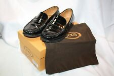 Tod's loafer/Slipper/mocasines zapatos de charol óptica negro 36 (interior 23cm)