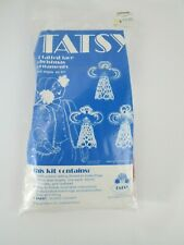 Vintage Tatsy 3 Tatted Lace Christmas Angel Ornaments Kit #311 New Tatting