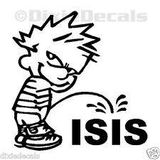 "Bulk (Pack of 15) 6"" Calvin Pee Piss on ISIS Anti Terrorist Sticker Window Decal"