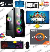 ULTRA FAST Gaming PC AMD Ryzen 5 3600 3.6GHz 6-Core 16GB 256GB +1TB GTX1650