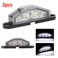 2pc 4LED LICENSE NUMBER PLATE LIGHT TAIL REAR LAMP CAR TRUCK TRAILER Replacement