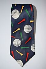 """Beverly Hills Polo Club Blue Golf Ball Tee Classic 56-1/2"""" Necktie Tie Polyester"""