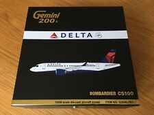 DELTA Airlines CS100 Bombardier Large Diecast Model Gemini 1/200 G2DAL701 USANew