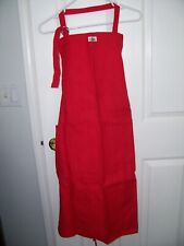 KITCHEN APRON RED 100% HEAVY COTTON UNISEX