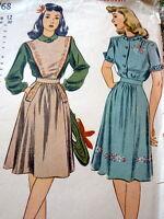 LOVELY VTG 1940s BLOUSE JUMPER & SKIRT Sewing Pattern 12/30