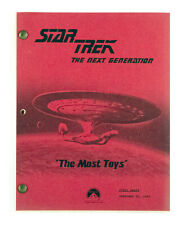 "STAR TREK:TNG ORIGINAL SCRIPT - ""The Most Toys,"" Written by Shari Goodhartz"