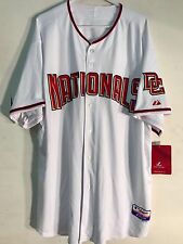 Majestic Authentic MLB Jersey Nationals Team White Cool Base sz 60