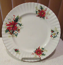 Royal Albert Poinsettia Christmas Pattern Dinner Plate(s) England 1976