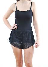 Free People Women's Seamless Bodysuit Straps Stretchy Slim Black Size XS BCF61