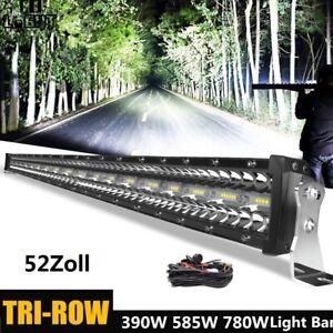 52zoll LED Arbeitsscheinwerfer Lichtbalken Lampe Light Bar Offroad 4x4 Kabelbaum