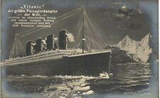 More details for white star line ss titanic by nve. iceberg.