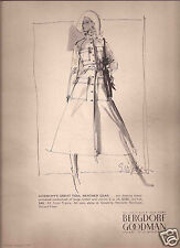 70's EM Larson Illustrated Bergdorf Goodman Fashion Ad  1971