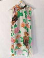 SHAKUHACHI Orange Roses Cutout Shift Dress BNWT size 8